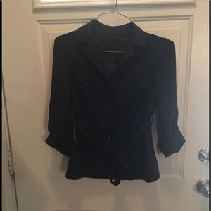 The Limited Navy Blue Tie Jacket